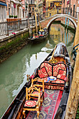 Gondola laying at canal, Venice, UNESCO World Heritage Site Venice, Venezia, Italy