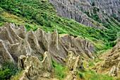 Erosion landscapes near Atri, Calanche di Atri, Atri, Abruzzi, Italy