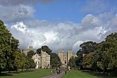 The Long Walk, Windsor Great Park und Windsor Castle, Berkshire, England