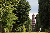 Pagode von Sir William Chambers für Prinzessin Augusta, die Gründerin des Royal Botanic Gardens, Kew, Richmond upon Thames, London, England
