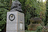 Grave of Karl Marx, Highgate Cemetery, London, England
