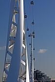 Emirates Air Line Tram zwischen Greenwich und Docklands, London, England
