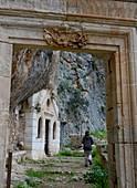 Decayed monastery Gouvernetou on the peninsula of Akrotiri, naer Hania, Crete, Greece