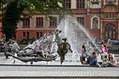 Brunnen der Lebensfreude von Jo Jastram, Hansestadt Rostock, Mecklenburg Vorpommern