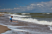 Surf along the Baltic coast, Kuehlungsborn, Mecklenburg Vorpommern, Germany