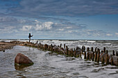Fishing on the Baltic coast at Kuehlungsborn, Mecklenburg-Vorpommern, Germany