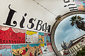 'Comic strip telling the history of the city, Alfama; Lisbon, Portugal'