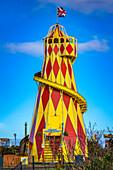 'Helter Skelter ride at a seaside fair; Sunderland, Tyne and Wear, England'
