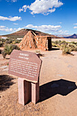 One of the traditionally built Native American houses that are part of the village display at Eagle Point at the West Grand Canyon, Arizona, United States of America