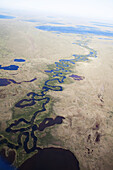 River running through the coastal plains, North Slope Borough, Alaska, United States of America