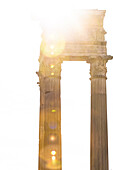 Antique columns against the light, Rome, Latium, Italy