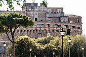 One of the main attractions the castle Castel Sant' Angelo, Rome, Latium, Italy