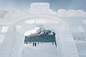ice castle at Lake Louise, Bow Valley, Banff National Park, Alberta, Kanada, north america