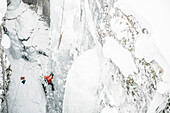 ice climber at Kootenay National park, Kootenay National Park, marble canyon,  British Columbia, Kanada, north america