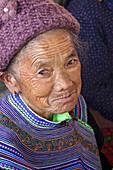 Portrait, woman, vietnamese woman, Bac Ha market, Lao Cai, Vietnam