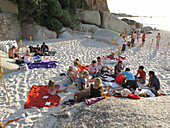 Christmas celebration, Clifton beach, Cape Town, South Africa