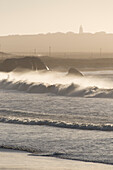 sunset, ocean waves, Paternoster, South Africa