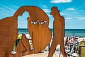 Udo Lindenberg Skulptur, Timmendorfer Strand, Lübecker Bucht, Ostsee, Schleswig-Holstein, Deutschland