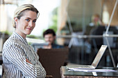 Businesswoman in office, portrait