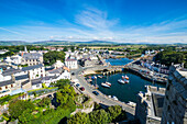 Overlook over Castletown, Isle of Man, crown dependency of the United Kingdom, Europe