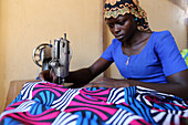 Tailoring workshop in Lome, Togo, West Africa, Africa