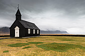 Budir, Snaefellsnes Peninsula, Western Iceland, Iceland, The black church of budir