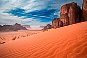 Wadi-Rum desert, Jordan, Middle East