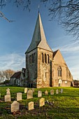 All Saints church in Herstmonceux, East Sussex, England.