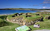 Archeolog. Sight of Skara Brae on the island of Mainland, Orkney Islands, outer Hebrides, Scotland