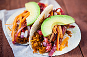 Der Shredded Squash Taco von Silver Seed Food Trailer