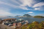 The Tofino Docks and Meares Island, British Columbia, Canada