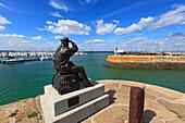 France, Quiberon Peninsula, Haliguen. The harbour.