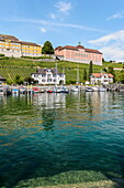 Germany, Baden-Wurttemberg, Medieval town of Meersburg on Lake Constance