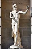 France, Paris. Val de Marne. Vincennes. Chateau de Vincennes. The arcades. Ornamental sculpture.