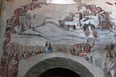 Mexico, State of Guanajuato, Baroque frescoes by Antonio Martinez de Pocasangre, sanctuary of Jesus Nazareno de Atotonilco, 18th century