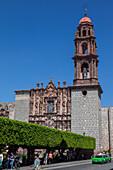 Mexico, State of Guanajuato, San Miguel de Allende, San Francisco de Sales church, 18th century, churrigueresque portal