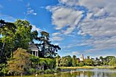 France, Paris. 12th arrondissement. Vincennes. Bois de Vincennes. Lake Daumesnil. Ile de Reuilly. Romantic Rotunda.
