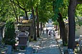 France, Paris 20th district. Pere Lachaise cemetery