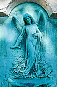 France, Paris 20th district. Pere Lachaise cemetery. Angel