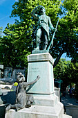 France, Paris 20th district. Pere Lachaise cemetery. The grave of sergeant Hoff (1836-1902), hero of the Prussian-French war of 1870
