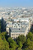 France. Paris 17th district. Place de l'Etoile. Buildings between avenue Carnot and avenue Mac Mahon