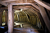 France, Burgundy, Yonne. Castle of Saint Fargeau. The frame.