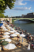 France, Paris, 4th district, the Seine, Paris-Plage, 2014.