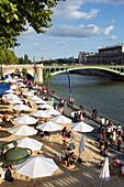 France, Paris, 4th district, the Seine, Paris-Plage, 2014.