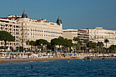 France, Southern France, Cannes, Carlton and Miramar Hotels, Croisette and beaches