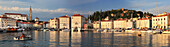 Slovenia, Panoramic view of the city of Piran and marina
