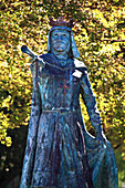 Portugal, Viano do Castelo district, Ponte do Lima. The oldest city of Portugal. Statue of Queen Dona Teresa.
