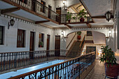 Mexico, Toluca, Hall of the Colonial Hotel