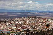 Mexico, Zacatecas state, Zacatecas, General view of Zacatecas from the Cerro de la Bufa, Unesco World Heritage