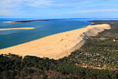 France, Gironde. Aerial view of the Dune of Pilat.